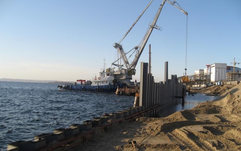 Берегоукрепительные работы в основном районе Волгограда завершены на77%